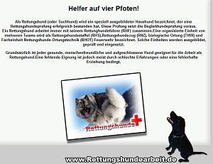 Die Internetseite www.rettungshundearbeit.de