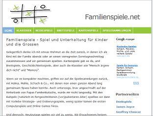 Familienspiele.net - Infos zum Thema Familienspiele