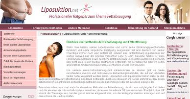 Alles zum Thema Liposuktion findet sich auf Liposuktion.net