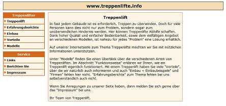 Treppenlifte.info - Informationen über Treppenlifte