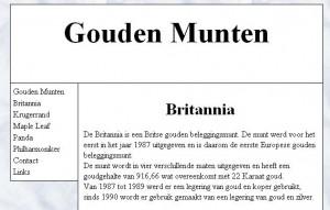 Gouden Munten informatiepagina